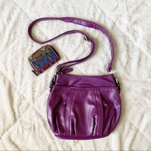 🌻 NINE & CO - purple crossbody purse & cardholder